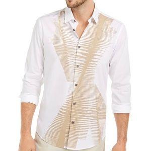 Alfani Men's Abstract Line-Print Shirt